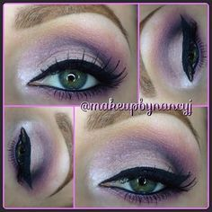Pink and gray sexy eyeshadow