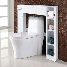A bathroom can look amazing too if you incorporate the right decoration and furniture. Use unique simple bathroom storage like those in the images above for a more interesting space!