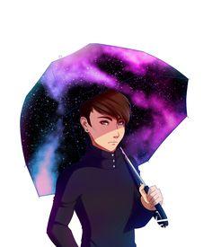 Galaxy Umbrella by Emolise.deviantart.com on @DeviantArt
