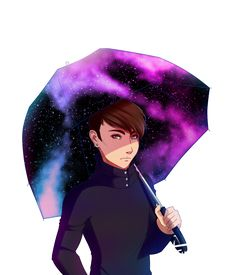 Galaxy Umbrella by Emolise.deviantart.com on @DeviantArt