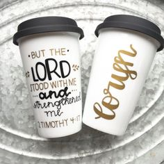 But the Lord Stood with Me  Hand Painted by MorningSunshineShop.  $22.68.