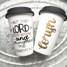 Pero el Señor estaba conmigo taza pintada por MorningSunshineShop