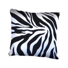 Collection Coussin Design zébré noir et blanc 45 x 45 x 15