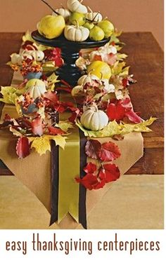 Easy Thanksgiving centerpieces #holiday #thanksgiving #fall #centerpieces #diy #crafts #decor