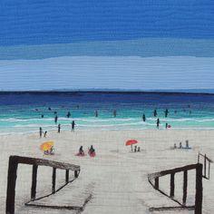 """The Entry"", Australian Art quilt by Rebekah Dundon | Bekahdu.  Bloggers Quilt Festival - Spring 2015."