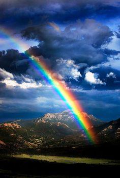 Rainbow over Rocky Mountain National Park, Colorado - marvelous views of nature Beautiful Sky, Beautiful Landscapes, Beautiful World, Beautiful Places, All Nature, Amazing Nature, Amazing Grace, Rocky Mountain National Park, Mountain Park