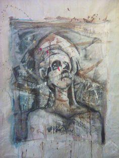 Encollage et Acrylique sur toile - Filzed