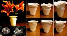 DIY Used Coffee Cup Vase