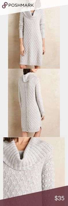 Cowled Sweater Dress by Sparrow Warm, comfy, and in perfect condition. Can be worn as a dress (as shown in pics) or a long sweater coat (if you unbutton and turn it around). Runs large. I am size S/M and it fits me perfectly. Anthropologie Sweaters Cowl & Turtlenecks