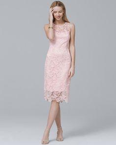 Women'S sleeveless lace sheath dress by white house black market Grad Dresses Long, Formal Dresses For Weddings, Modest Dresses, Bride Dresses, Wedding Dresses, Boho Dress, Dress Skirt, Elegant Wedding Dress, Modest Wedding