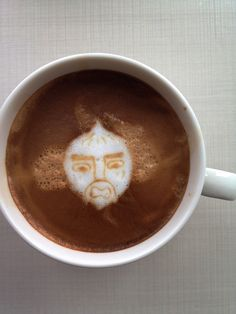 Today's latte, Chop Chop Master Onion (from PaRappa the Rapper). #geeklatte by yukop, via Flickr