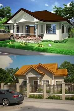 Simple Home Designs Photos - Pinoy House Designs Bamboo House Design, Simple House Design, House Design Photos, Beautiful House Plans, Beautiful Homes, My House Plans, Kato, Architecture Design, Greece
