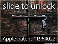 Slide to unlock. Apple patent #1964022.