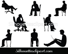 Man Sitting Silhouette Vector Graphics