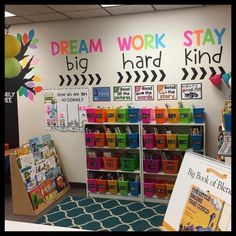 How cute is Melanie's classroom library? Perfect to cozy up with a good pic… – Zoe How cute is Melanie's classroom library? Perfect to cozy up with a good pic… How cute is Melanie's classroom library? Perfect to cozy up with a good picture book! Classroom Quotes, Classroom Walls, New Classroom, Classroom Design, Year 3 Classroom Ideas, Classroom Setting, Classroom Wall Decor, Classroom Reading Nook, Bulletin Board Ideas For Teachers
