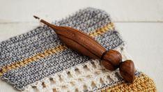 OOAK Wood Crochet Hook Size E 4 mm Ergonomic Wooden