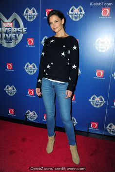 Katie Holmes At Marvel Universe LIVE! world premiere http://icelebz.com/events/katie_holmes_at_marvel_universe_live_world_premiere/photo2.html