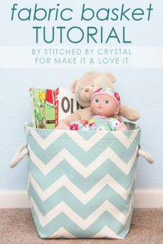 Fabric Storage Basket…with handles