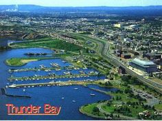City of Thunder Bay, Canada on the northwestern shore of Lake Superior. Beautiful Sites, Most Beautiful Cities, Amazing Places, Vacations To Go, Vacation Destinations, O Canada, Canada Travel, Thunder Bay Canada, Places Ive Been