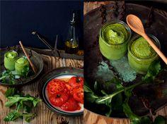 SMYKWKUCHNI: Pieczone pomidory malinowe z migdałowym pesto! FIT...