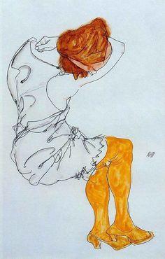 Egon Schiele – The Sleeping Girl, 1913