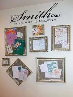 Inspiration for kids artwork display
