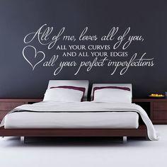 Alle van mij houdt alle van je muur Sticker slaapkamer muur   Etsy