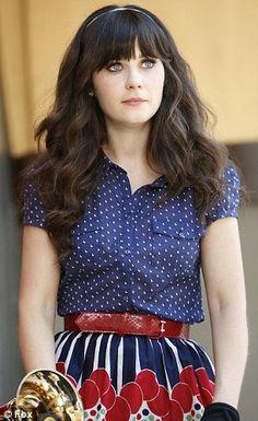 Polka dot shirt and floral skirt