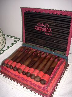 cigars #grooms #cake