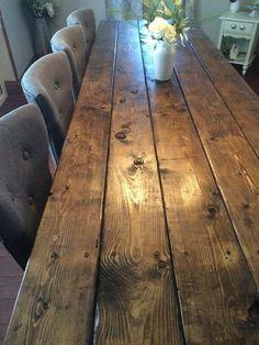 Farmhouse Table Farm Table Long Farmhouse by TheFarmhouseFinds Barn Table, Rustic Table, Dinning Table, Farm Table Diy, Wood Tables, Side Tables, Dining Chair, Farmhouse Kitchen Tables, Farmhouse Decor