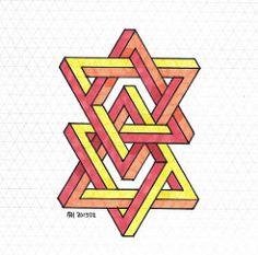 20150115 (regolo54) Tags: triangle pattern handmade geometry symmetry handpaint escher isometric impossible mcescher penrosetriangle artempire triangleimpossible artistsharing oscarreutersward