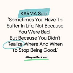 Motivational Karma quotes truths deep meaningful 2020.  Follow me on Instagram for more Inspirational, motivational and success quotes.   Instagram/NayanMeckwan #quotes #motivational #success #Inspirational #deep #karma Karma Quotes Truths, Best English Quotes, Being Good, Follow Me On Instagram, Success Quotes, Motivational, Deep, Inspirational, Sayings