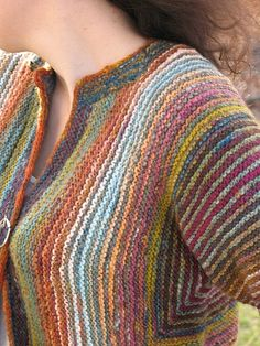 Ravelry: fiberenabler's Handspun stripes surprise jacket