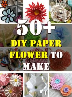 50+ DIY Paper Flower to Make