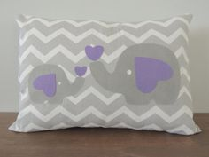 Mama and baby elephants stay together forever. :) Love the pop of purple...great baby shower gift!