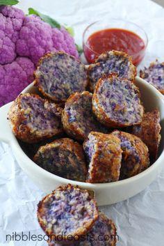 Purple parmesan cauli-tots.  Baked, not fried! @Mama Francesca