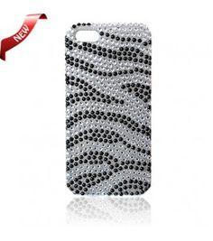 iPhone 5 Cases : Bling Case Zebra Black