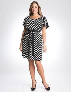 Twist back chevron dress