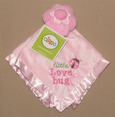 NWT Circo Pink Little Love Bug Flower Ladybug Security Blanket Lovey Girls Satin #Circo