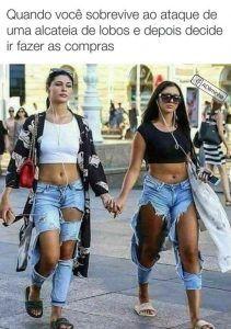 Como essas calças podem ser mais caras se tem metade delas faltando?!!