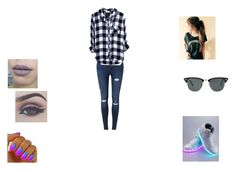 """Hacked by @uainbowunicorn lol"" by jacobsbae ❤ liked on Polyvore featuring Bellezza, NIKE, Miss Selfridge and Ray-Ban"