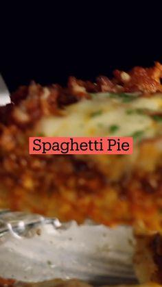 Dessert Recipes, Dinner Recipes, Desserts, Spaghetti Pie, Dinners, Meals, Tasty, Yummy Food, Diy Food