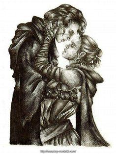 Kylo Ren with Rey by: Dark_Warrior  #kylo #ren #rey #reylo