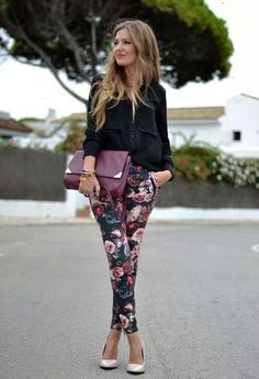 more floral pants! how would these work w my figure? and uncertain of a color (dark or light), print (small or large) and cut of pants....