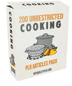 200 Unrestricted Cooking PLR Articles Pack - http://www.buyqualityplr.com/plr-store/200-unrestricted-cooking-plr-articles-pack/.  #Cooking #CookingTips #CookingRecipes #CookingIdeas #Barbecue #Baking 200 Unrestricted Cooking PLR Articles Pack In this PLR Content Pack You'll get 200 Unrestricted Cooking Articles with Private Label Rights to help you dominate the Cooking market which is a highly profitable and in-demand....