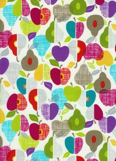 Timeless Treasures Fabric - Fruit Punch Collection - Apples and Pears, via Etsy.