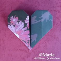 Very easy and simple origami heart tutorial ideal for kids and adults