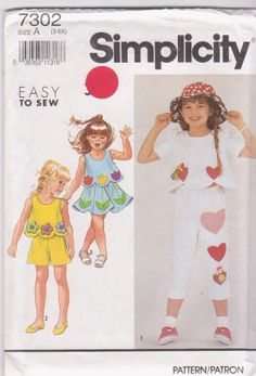 Easy pattern for girls summer clothes with by beththebooklady, $4.99