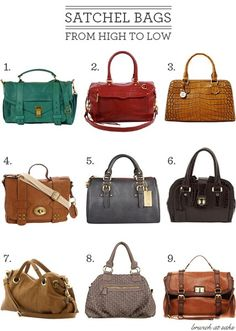 Satchels are my favorite over every other type of handbag, including the clutch & crossover! ~Qia