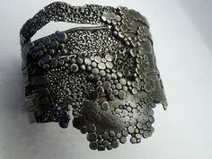 Cuff | Darcy Miro.  Oxidized sterling silver.